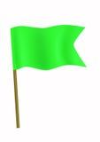 Piccola bandierina verde Fotografia Stock Libera da Diritti