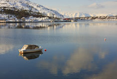 Piccola barca, Alta, Norvegia Fotografie Stock