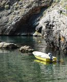 Piccola barca gialla Fotografia Stock Libera da Diritti