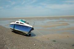 Piccola barca nella baia della Somme, Francia Fotografia Stock Libera da Diritti