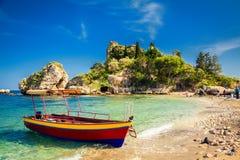 Piccola barca per l'escursione Immagine Stock