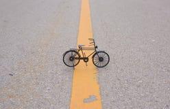 Piccola bicicletta nera Fotografie Stock