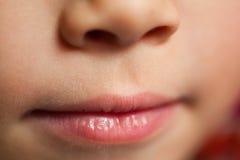 Piccola bocca del bambino Immagini Stock