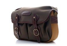 Piccola borsa a tracolla di Billingham Hadley in salvia con la disposizione di cuoio cachi del cioccolato e di FibreNyte Fotografia Stock