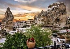 Piccola Camera di Goreme dell'hotel in Cappadocia, Turchia Fotografia Stock Libera da Diritti