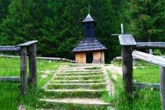Piccola cappella in montagne di Tatra Immagini Stock Libere da Diritti
