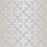 Piccola carta da parati floreale d'argento senza cuciture degli elementi Fotografia Stock