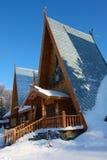 Piccola casa di legno Fotografie Stock