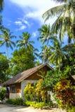 Piccola casa di spiaggia su un'isola tropicale Immagine Stock
