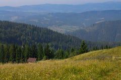 Piccola casa in montagne Fotografie Stock