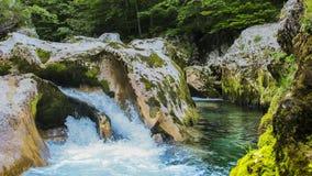 Piccola cascata blu Fotografia Stock Libera da Diritti