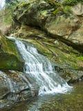 Piccola cascata Correnti trasparenti Fotografie Stock Libere da Diritti