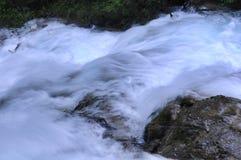 Piccola cascata dell'insenatura nel parco nazionale di Jiuzhaigou immagini stock libere da diritti