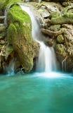 Piccola cascata in foresta a sud della Tailandia Fotografia Stock Libera da Diritti
