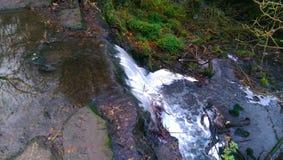 Piccola cascata osservata da sopra Fotografia Stock Libera da Diritti