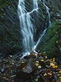 Piccola cascata in pieno di acqua dopo pioggia.   Immagine Stock