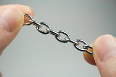 Piccola catena d'argento Fotografia Stock