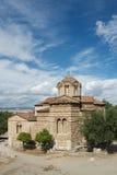Piccola chiesa bizantino a Atene, Grecia Fotografia Stock