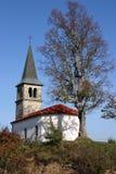Piccola chiesa del paese Fotografia Stock Libera da Diritti