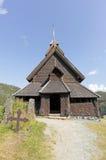 Piccola chiesa della doga in Norvegia Fotografia Stock Libera da Diritti
