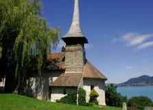 Piccola chiesa, Einigen, Svizzera Immagini Stock