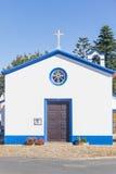 Piccola chiesa portoghese in Almograve Fotografie Stock Libere da Diritti
