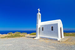 Piccola chiesa sulla costa di Creta Fotografia Stock Libera da Diritti