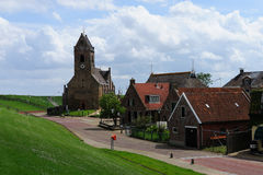 Piccola chiesa in Wierum fotografia stock