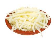 Piccola ciotola di formaggio a bassa percentuale di grassi della mozzarella Fotografia Stock