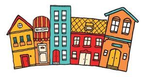 Piccola città del fumetto Fotografie Stock