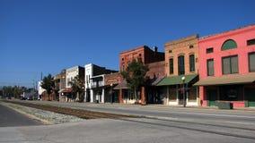 Piccola città del sud Fotografie Stock