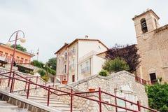 Piccola città italiana, Abruzzo Fotografia Stock