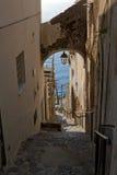 Piccola città italiana 2 della spiaggia Fotografie Stock Libere da Diritti