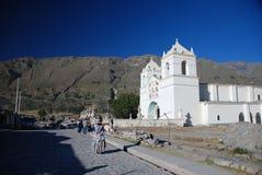 Piccola città peruviana Immagini Stock Libere da Diritti