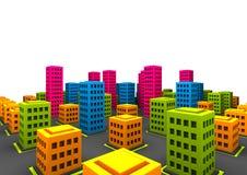 Piccola città sciocca Immagini Stock Libere da Diritti