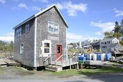 Piccola costruzione dell'assicella in Maine Fotografie Stock Libere da Diritti