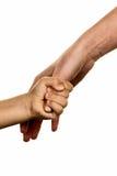 Piccola e grande mano immagine stock