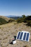 Piccola energia solare dentro all'aperto Fotografie Stock Libere da Diritti