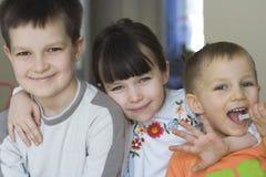 Piccola famiglia Fotografia Stock Libera da Diritti