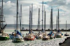 Piccola flotta degli yacht Immagini Stock Libere da Diritti