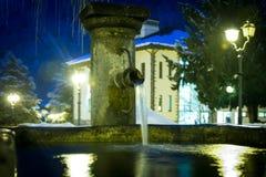 Piccola fontana nel centro di Pré-San-Didier Immagini Stock Libere da Diritti