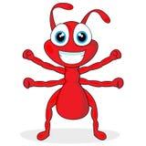Piccola formica rossa sveglia Fotografia Stock Libera da Diritti