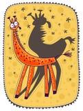 piccola giraffa Immagini Stock Libere da Diritti