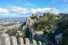Piccola grande muraglia nel Portogallo Fotografia Stock