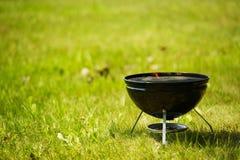 Piccola griglia del barbecue Fotografie Stock Libere da Diritti