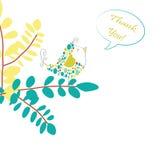 Piccola illustrazione dell'uccello - disegno di scheda Immagini Stock