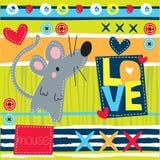 Piccola illustrazione di amore del topo Fotografia Stock
