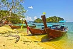 Piccola isola Beanch in Tailandia Immagini Stock Libere da Diritti