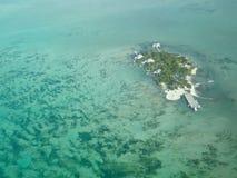 Piccola isola a Belize Immagine Stock Libera da Diritti