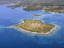 Piccola isola di Spalathronisi, Grecia Fotografia Stock Libera da Diritti
